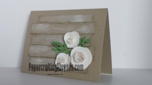 May Day Flowers Whitewashed Boards