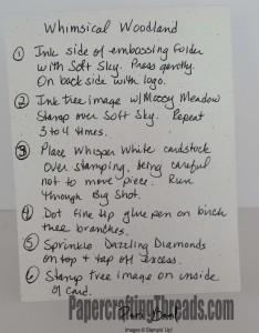 Whimsical Woodland Instructions