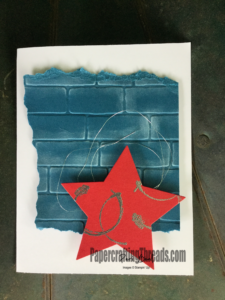Stampin'Up!, add texture to card, how to, #peribeal, #papercraftingthreads