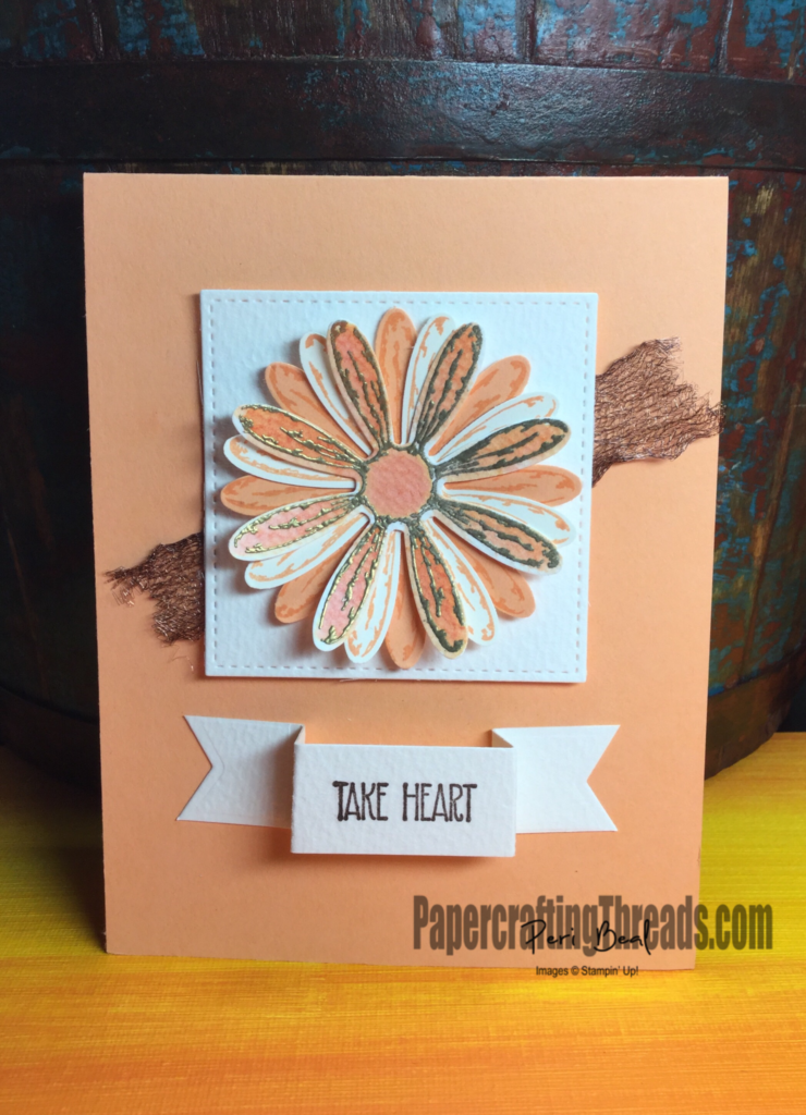 Stampin'Up!, Daisy Punch, Daisy Delight Stamp, Window Box Thinlits, encouragement card, #peribeal, #papercraftingthreads