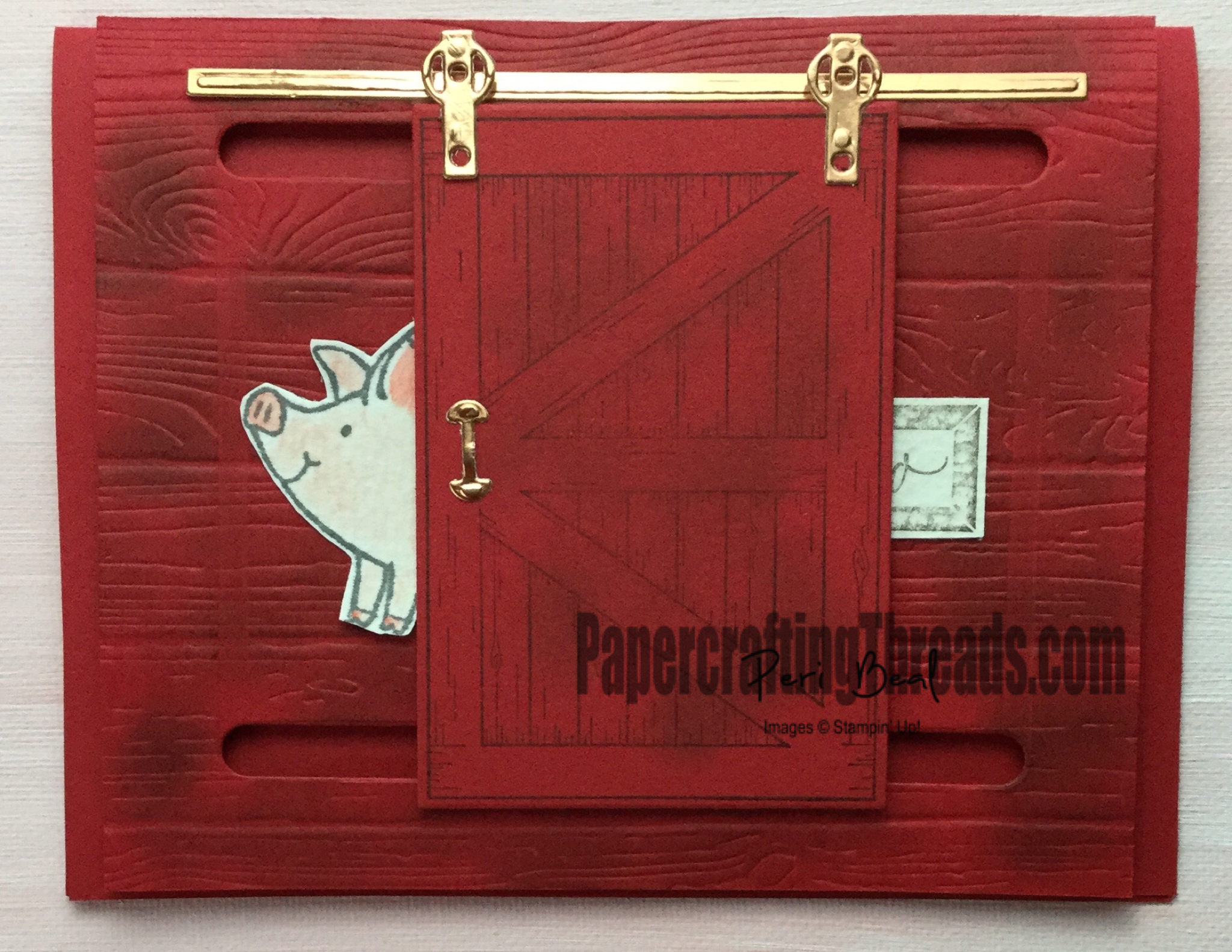 Shut the barn door, this little piggy, interactive card